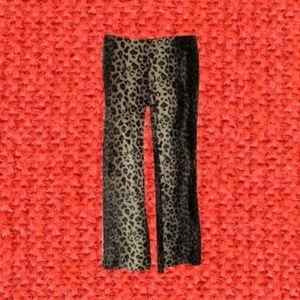 leopard 90s grunge velvet flared pants size small